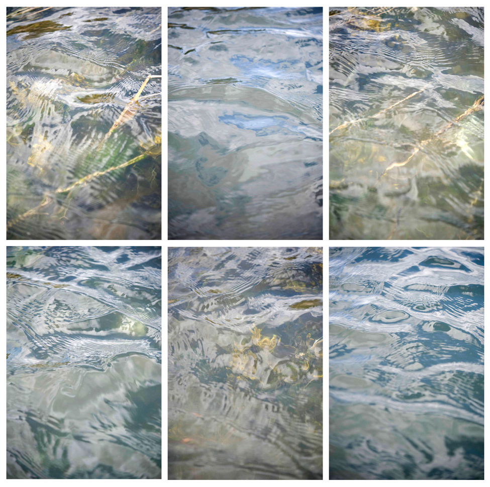 Water (6 Panel Grid), 2010 Multipanel